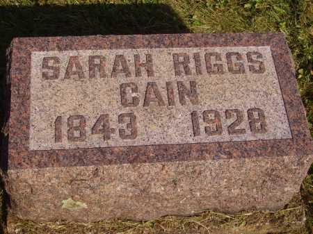 CAIN, SARAH - Meigs County, Ohio | SARAH CAIN - Ohio Gravestone Photos