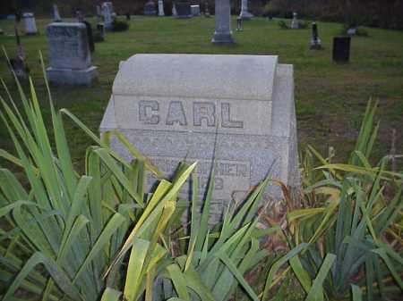 CARL MONUMENT, CHRISTOPHER & ELIZABETH - Meigs County, Ohio | CHRISTOPHER & ELIZABETH CARL MONUMENT - Ohio Gravestone Photos