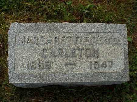 CARLETON, MARGARET FLORENCE - Meigs County, Ohio   MARGARET FLORENCE CARLETON - Ohio Gravestone Photos