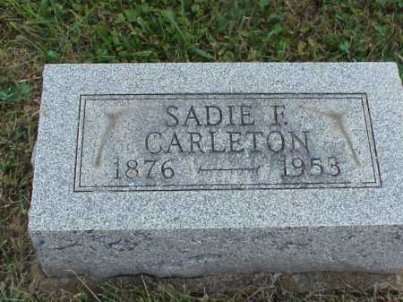 CARLETON, SADIE F. - Meigs County, Ohio | SADIE F. CARLETON - Ohio Gravestone Photos