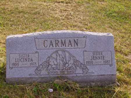 CARMAN, JENNIE - Meigs County, Ohio | JENNIE CARMAN - Ohio Gravestone Photos