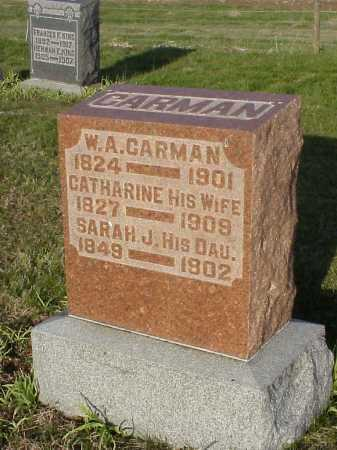 CARMAN, SARAH J. - Meigs County, Ohio | SARAH J. CARMAN - Ohio Gravestone Photos