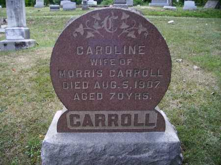CARROLL, CAROLINE - FRONT VIEW - Meigs County, Ohio | CAROLINE - FRONT VIEW CARROLL - Ohio Gravestone Photos