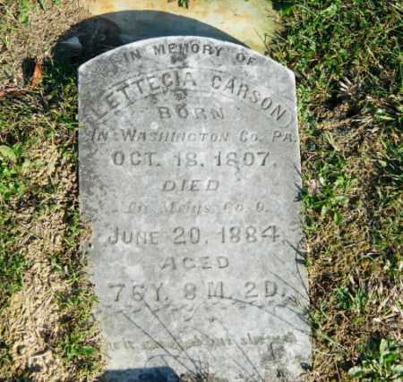 CARSON, LETTICIA - Meigs County, Ohio | LETTICIA CARSON - Ohio Gravestone Photos