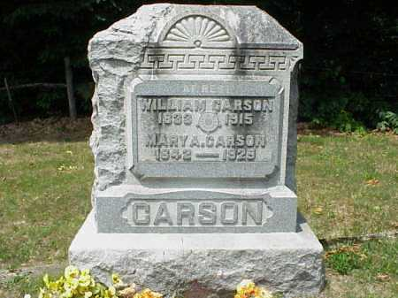 CARSON, MARY A. - Meigs County, Ohio | MARY A. CARSON - Ohio Gravestone Photos