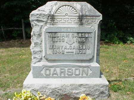 CARSON, WILLIAM - Meigs County, Ohio | WILLIAM CARSON - Ohio Gravestone Photos