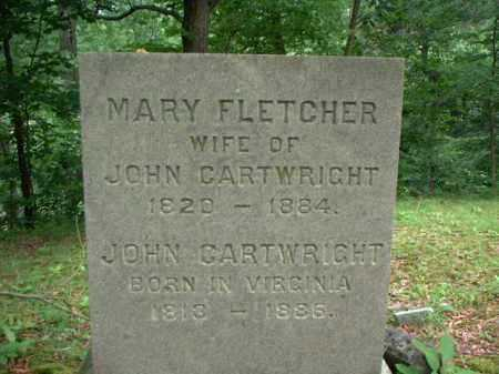 FLETCHER CARTWRIGHT, MARY - Meigs County, Ohio | MARY FLETCHER CARTWRIGHT - Ohio Gravestone Photos