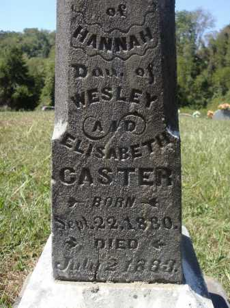 CASTER, HANNAH - CLOSE VIEW - Meigs County, Ohio | HANNAH - CLOSE VIEW CASTER - Ohio Gravestone Photos