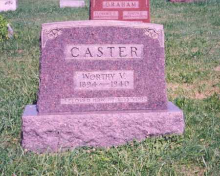 CASTER, WORTHY V. - Meigs County, Ohio | WORTHY V. CASTER - Ohio Gravestone Photos