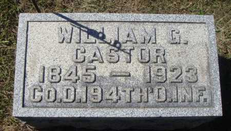 CASTOR, WILLIAM GREEN - Meigs County, Ohio | WILLIAM GREEN CASTOR - Ohio Gravestone Photos