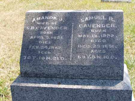 CAVENDER, SAMUEL R. - Meigs County, Ohio | SAMUEL R. CAVENDER - Ohio Gravestone Photos
