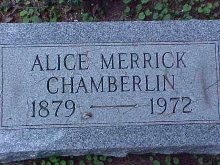 CHAMBERLIN, ALICE - Meigs County, Ohio | ALICE CHAMBERLIN - Ohio Gravestone Photos