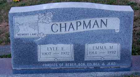 CHAPMAN, EMMA M - Meigs County, Ohio | EMMA M CHAPMAN - Ohio Gravestone Photos