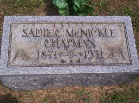 MCNICKLE CHAPMAN, SADIE - Meigs County, Ohio | SADIE MCNICKLE CHAPMAN - Ohio Gravestone Photos
