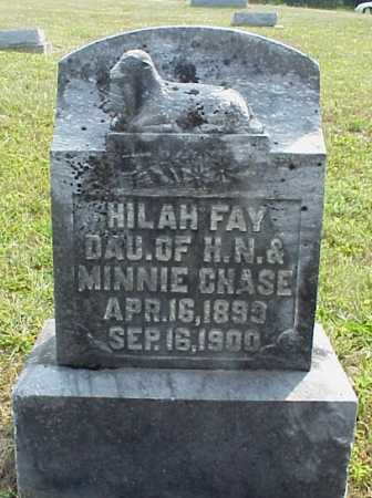 CHASE, HILAH FAY - Meigs County, Ohio | HILAH FAY CHASE - Ohio Gravestone Photos
