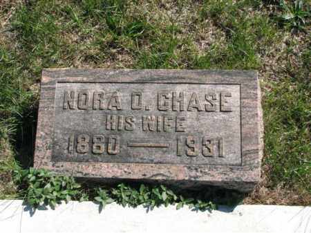 CHASE, NORA O. - Meigs County, Ohio | NORA O. CHASE - Ohio Gravestone Photos