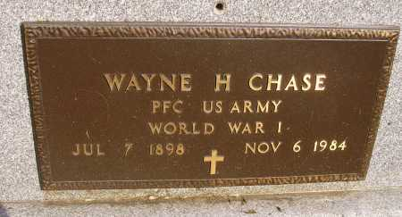 CHASE, WAYNE H. - MILITARY - Meigs County, Ohio | WAYNE H. - MILITARY CHASE - Ohio Gravestone Photos