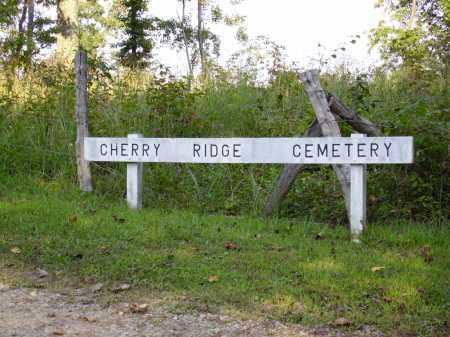 CHERRY RIDGE CEMETERY, SIGN - Meigs County, Ohio   SIGN CHERRY RIDGE CEMETERY - Ohio Gravestone Photos