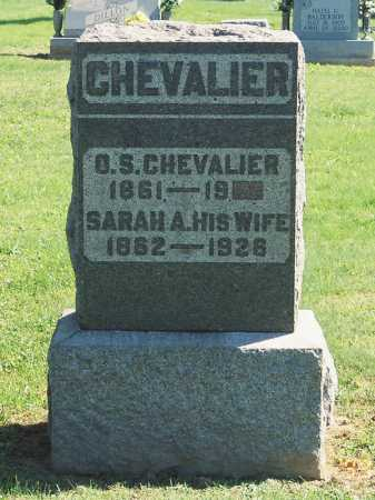 BARNHART CHEVALIER, SARAH A. - Meigs County, Ohio | SARAH A. BARNHART CHEVALIER - Ohio Gravestone Photos