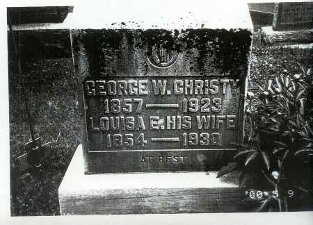 CHRISTY, GEORGE W. - Meigs County, Ohio | GEORGE W. CHRISTY - Ohio Gravestone Photos