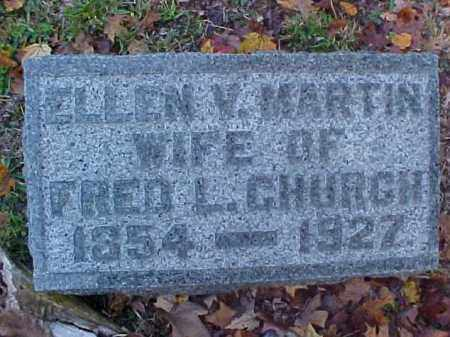 MARTIN CHURCH, ELLEN VIRGINIA - Meigs County, Ohio | ELLEN VIRGINIA MARTIN CHURCH - Ohio Gravestone Photos