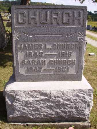 HOPPES CHURCH, SARAH - Meigs County, Ohio | SARAH HOPPES CHURCH - Ohio Gravestone Photos