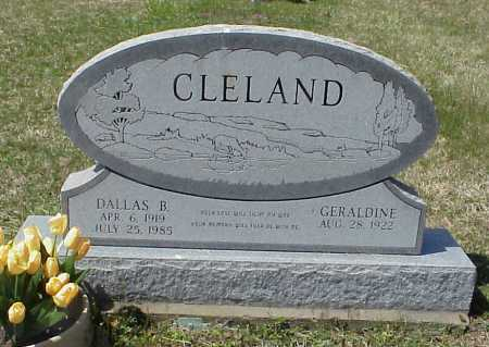 ROUSH CLELAND, GERALDINE - Meigs County, Ohio | GERALDINE ROUSH CLELAND - Ohio Gravestone Photos