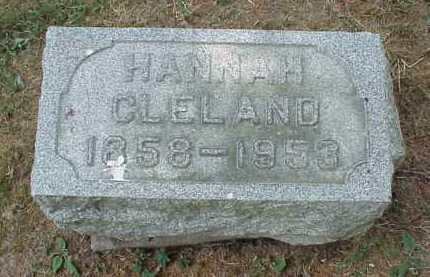 CLELAND, HANNAH - Meigs County, Ohio | HANNAH CLELAND - Ohio Gravestone Photos