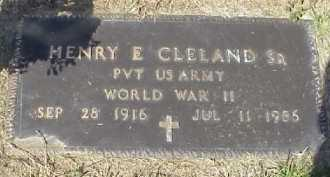 CLELAND, HENRY E. SR. - Meigs County, Ohio | HENRY E. SR. CLELAND - Ohio Gravestone Photos