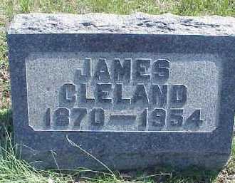 CLELAND, JAMES - Meigs County, Ohio | JAMES CLELAND - Ohio Gravestone Photos