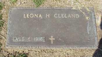 CLELAND, LEONA H. - Meigs County, Ohio | LEONA H. CLELAND - Ohio Gravestone Photos