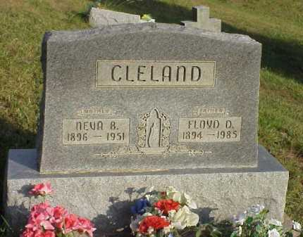 CLELAND, NEVA B. - Meigs County, Ohio | NEVA B. CLELAND - Ohio Gravestone Photos