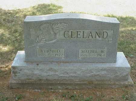 CLELAND, VERN D. - Meigs County, Ohio | VERN D. CLELAND - Ohio Gravestone Photos