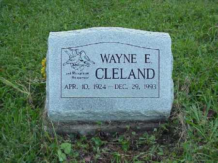 CLELAND, WAYNE E. - Meigs County, Ohio | WAYNE E. CLELAND - Ohio Gravestone Photos