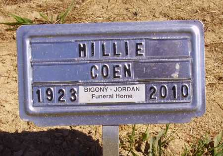 COEN, MILLIE - Meigs County, Ohio | MILLIE COEN - Ohio Gravestone Photos