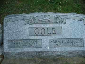 COLE, GUY - Meigs County, Ohio | GUY COLE - Ohio Gravestone Photos