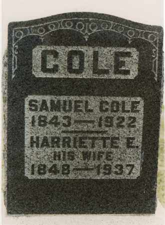 WAKELY COLE, HARRIETTE E. - Meigs County, Ohio | HARRIETTE E. WAKELY COLE - Ohio Gravestone Photos