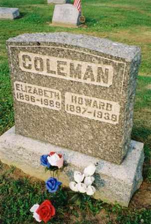 COLEMAN, ELIZABETH - Meigs County, Ohio | ELIZABETH COLEMAN - Ohio Gravestone Photos