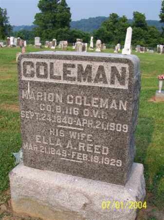REED COLEMAN, ELLA - Meigs County, Ohio | ELLA REED COLEMAN - Ohio Gravestone Photos