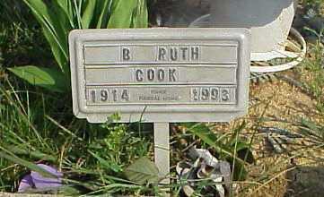 WOODYARD COOK, B. RUTH - Meigs County, Ohio | B. RUTH WOODYARD COOK - Ohio Gravestone Photos