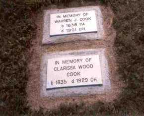 COOK, CLARISSA - Meigs County, Ohio | CLARISSA COOK - Ohio Gravestone Photos