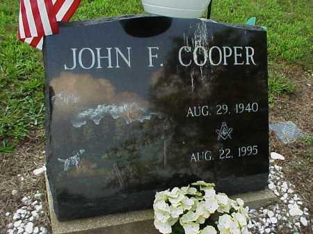 COOPER, JOHN F. - Meigs County, Ohio | JOHN F. COOPER - Ohio Gravestone Photos