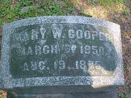 COOPER, MARY W. - Meigs County, Ohio | MARY W. COOPER - Ohio Gravestone Photos