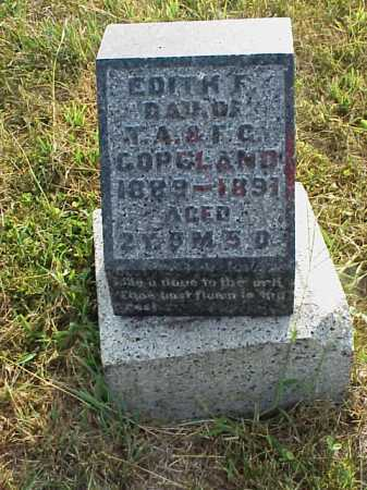 COPELAND, EDITH F. - Meigs County, Ohio | EDITH F. COPELAND - Ohio Gravestone Photos