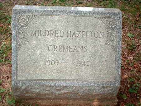 HAZELTON CREMEANS, MILDRED - Meigs County, Ohio | MILDRED HAZELTON CREMEANS - Ohio Gravestone Photos