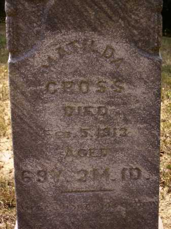 CHASE CROSS, MATILDA - Meigs County, Ohio | MATILDA CHASE CROSS - Ohio Gravestone Photos