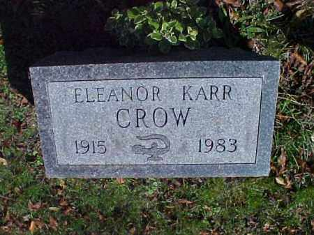 KARR CROW, ELEANOR - Meigs County, Ohio | ELEANOR KARR CROW - Ohio Gravestone Photos