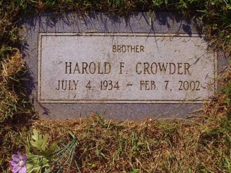 CROWDER, HAROLD F. - Meigs County, Ohio | HAROLD F. CROWDER - Ohio Gravestone Photos