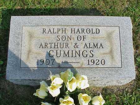 CUMINGS, RALPH HAROLD - Meigs County, Ohio | RALPH HAROLD CUMINGS - Ohio Gravestone Photos