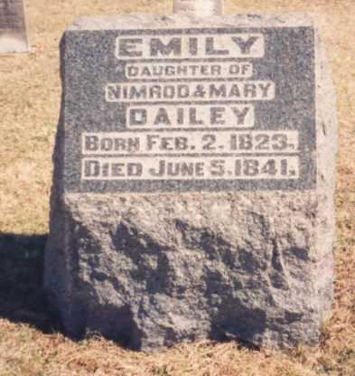 DAILEY, EMILY - Meigs County, Ohio | EMILY DAILEY - Ohio Gravestone Photos